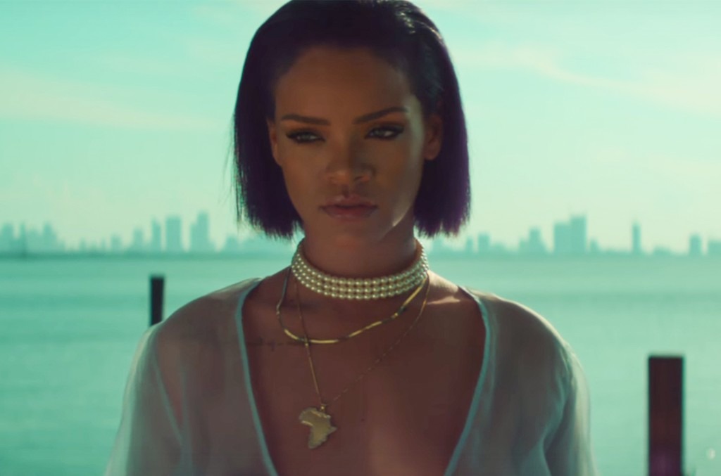 "Rihanna in the video for ""Needed Me."""
