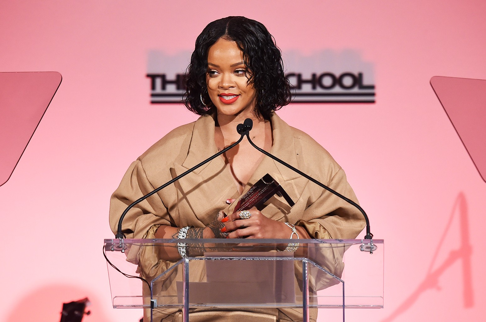 Rihanna during the 69th Annual Parsons Benefit at Pier 60 on May 22, 2017 in New York City.