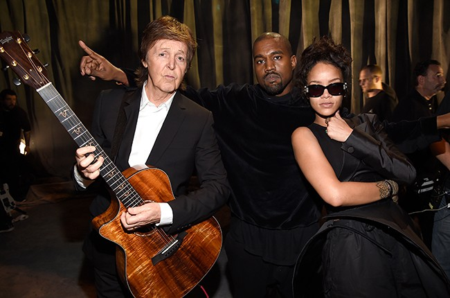 Paul McCartney, Kanye West and Rihanna