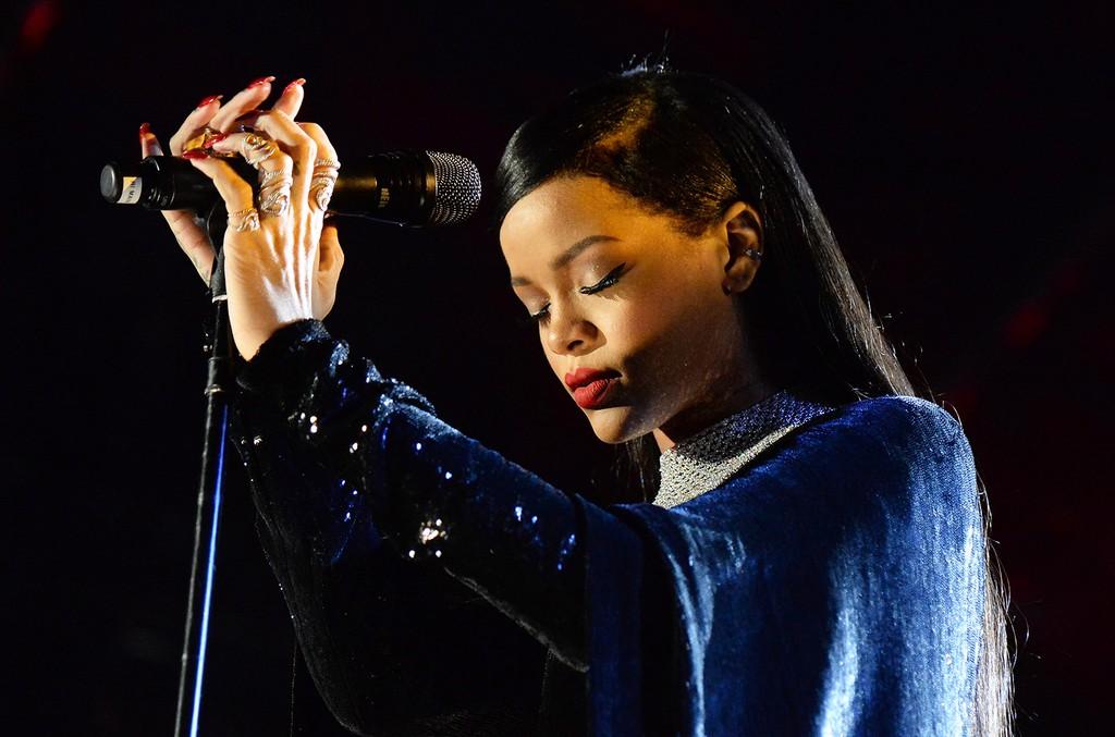 Rihanna performs in Washington, DC.