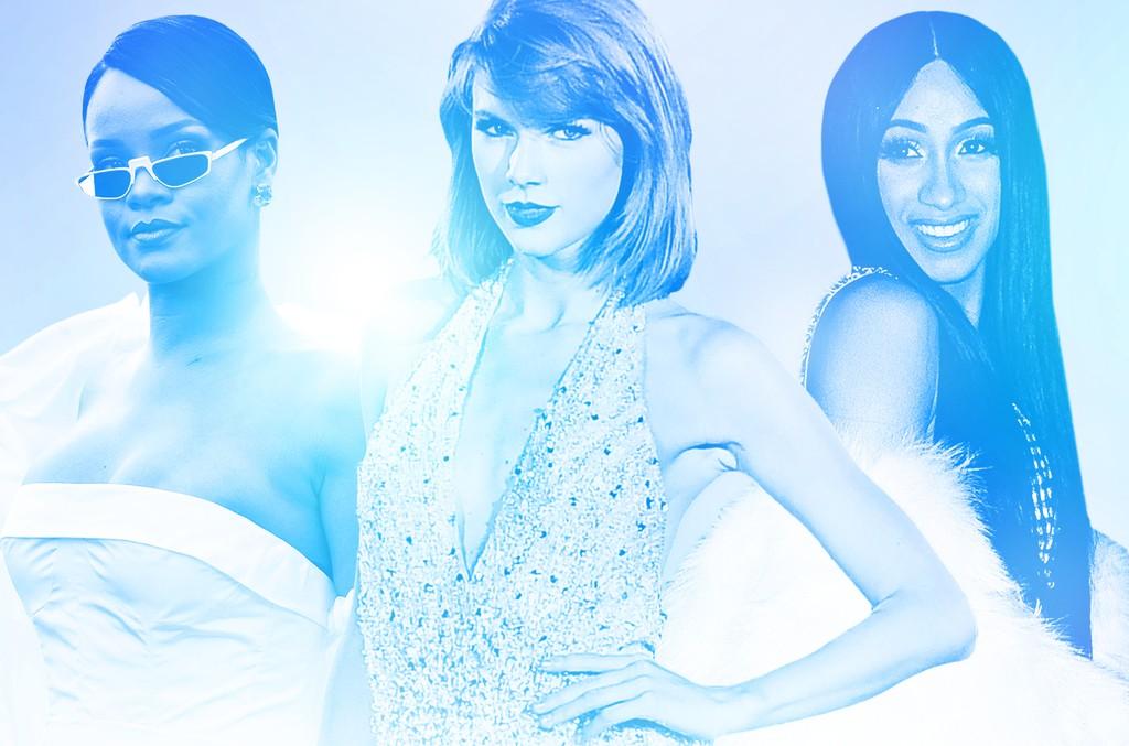 Rihanna, Taylor Swift & Cardi B