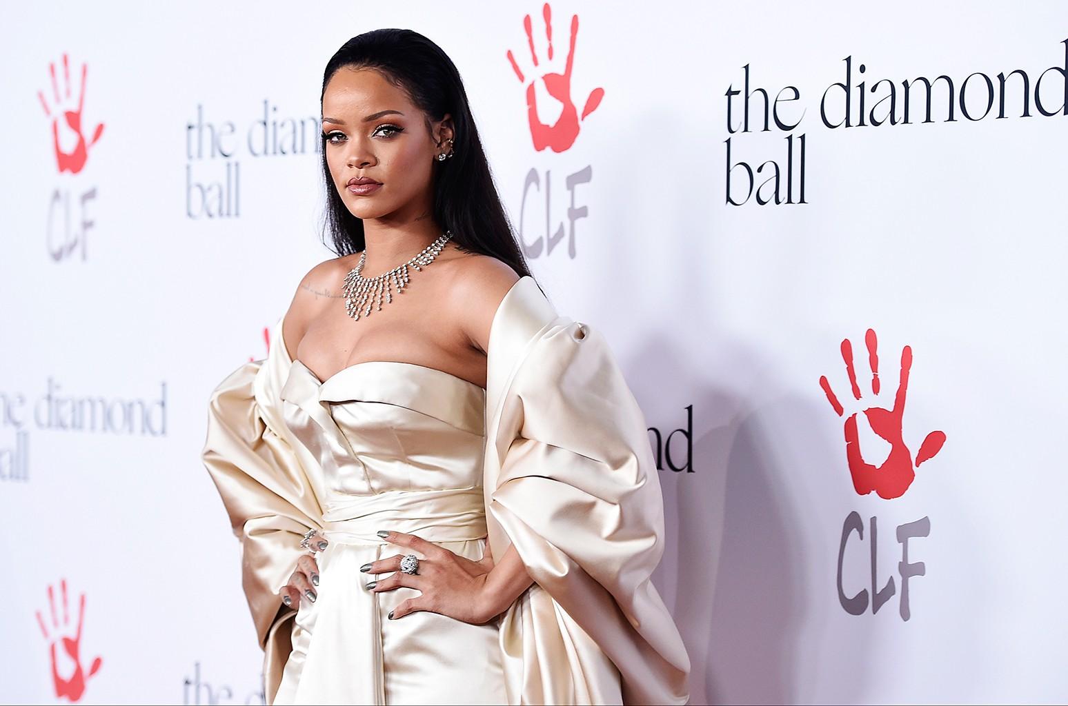 Rihanna attends the 2nd Annual Diamond Ball at The Barker Hangar on Dec. 10, 2015 in Santa Monica, Calif.