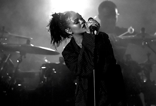 Rihanna performs onstage during CBS RADIOs third annual We Can Survive