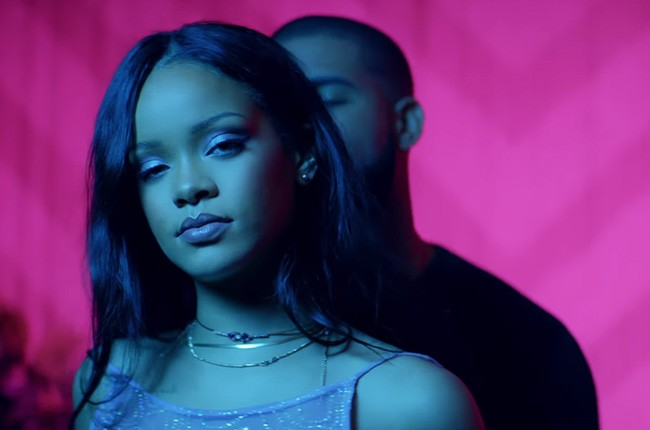"Rihanna's ""Work"" music video featuring Drake, released in Feb. 2016."