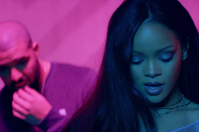 """Rihanna's """"Work"""" music video featuring Drake, released in Feb. 2016."""