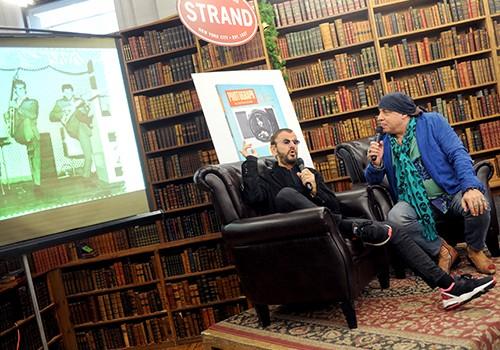 Steven Van Zandt sits with Ringo Starr at Strand Book Store