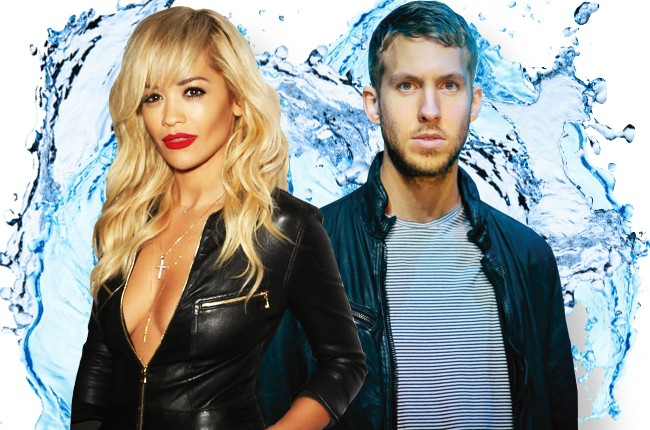 Rita Ora and Calvin Harris Ice Bucket Challenge