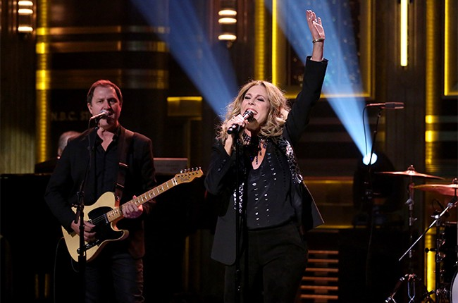 """Rita Wilson performs """"Along For The Ride"""" on The Tonight Show Starring Jimmy Fallon on March 21, 2016."""