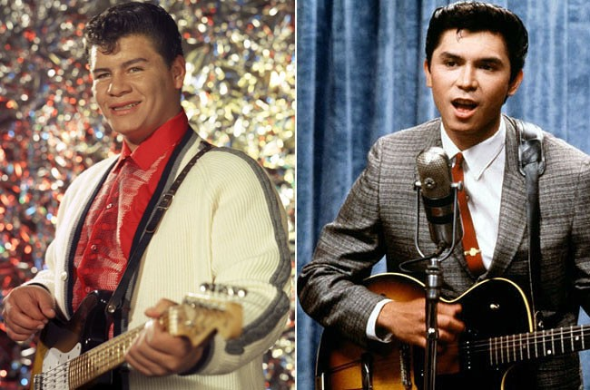 Ritchie Valens and Lou Diamond Phillips as Ritchie Valens