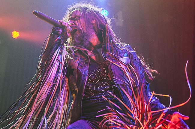 Rob Zombie performing in Atlanta