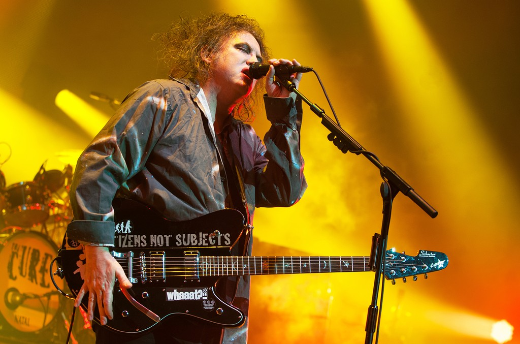 Robert Smith of The Cure performs in London