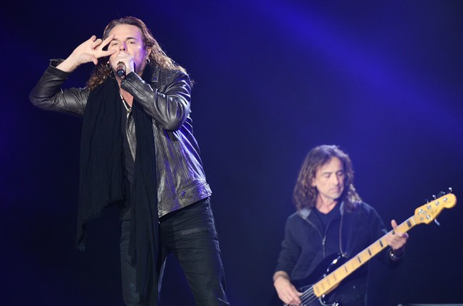 Mana perform onstage during Rock In Rio USA