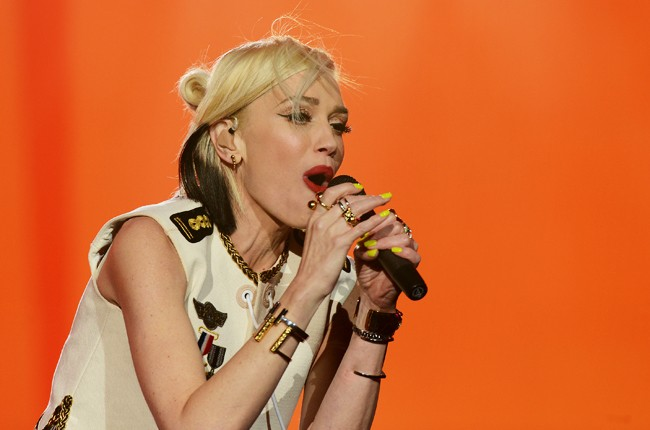 Gwen Stefani of No Doubt performs onstage during Rock In Rio USA