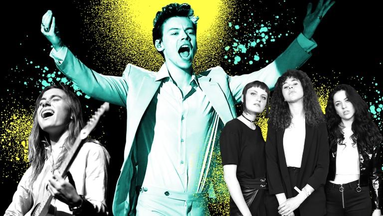 <p>From left: Julien Baker, Harry Styles &amp&#x3B; MUNA</p>