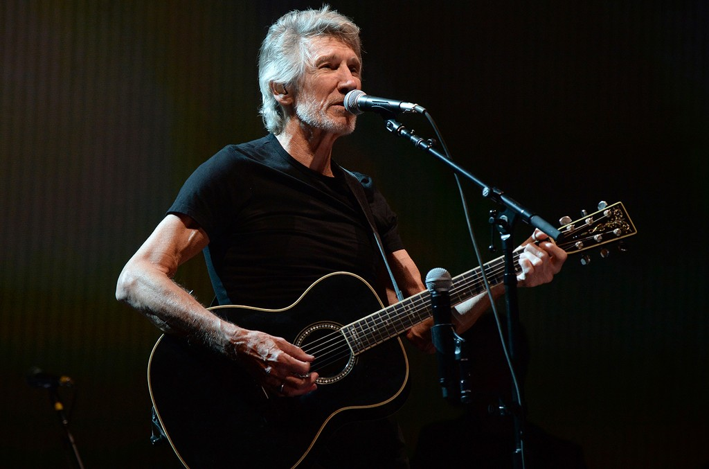 Roger Waters performs during Desert Trip