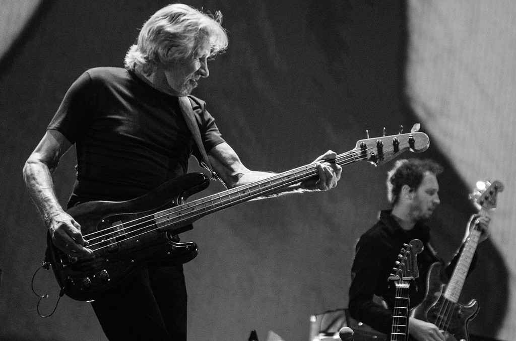 The Roger Waters Us + Them tour dress rehearsal photographed on May 21, 2017 at Meadowlands Arena in New Jersey