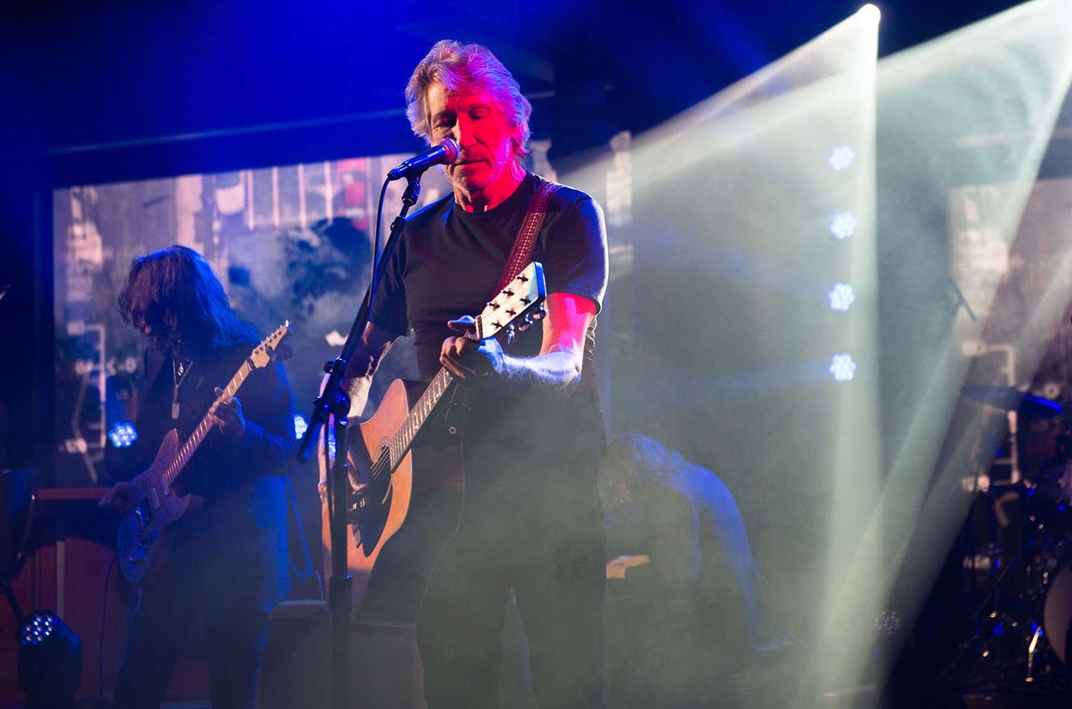 Roger Waters on The Late Show with Stephen Colbert on May 8, 2017.