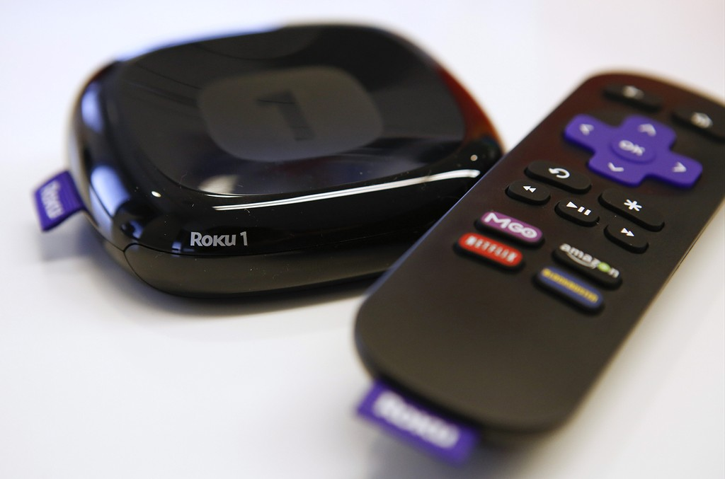 The Roku 1 television streaming player.