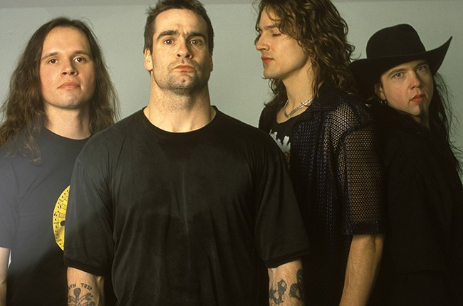 Jason Mackenroth (second from right) with Rollins Band circa 2000