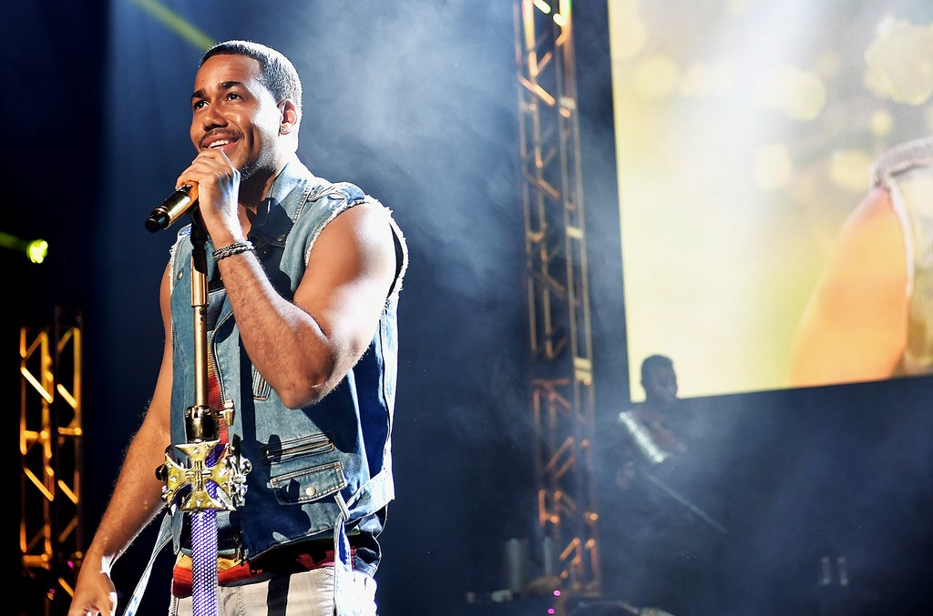 Romeo Santos performs on stage during TIDAL X Sprint Presents Romeo Santos Miami Pop-Up Concert at Fillmore at Jackie Gleason Theatre on Feb. 22, 2017 in Miami Beach, Florida.