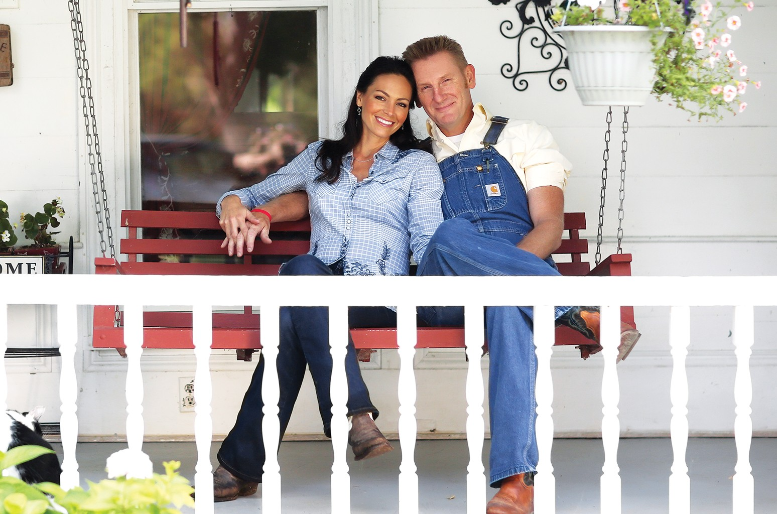 Joey (left) and Rory Feek in Tennessee in 2013.