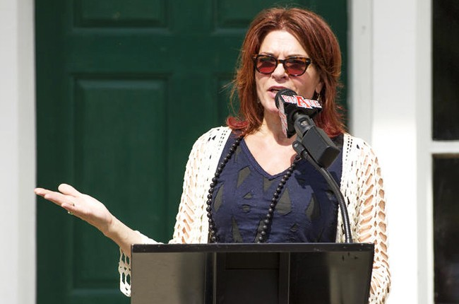 Rosanne Cash at the grand opening of the Johnny Cash Boyhood Home