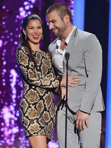 Roselyn Sanchez and Rafael Amaya present onstage at the 2015 Billboard Latin Music Awards