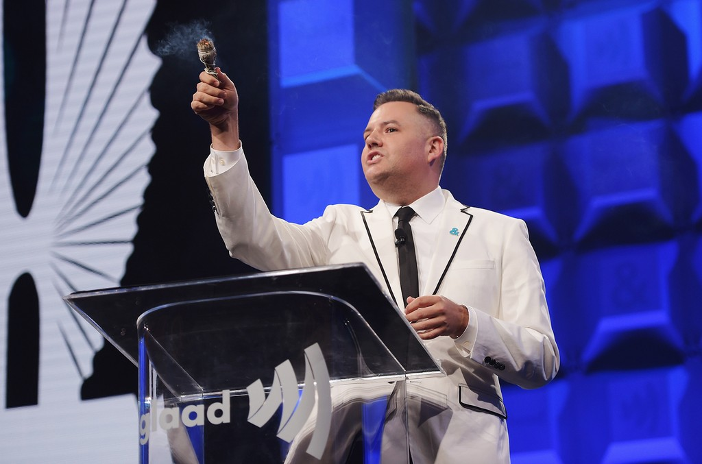 Ross Mathews speaks on stage the 28th Annual GLAAD Media Awards at The Hilton Midtown on May 6, 2017 in New York City.