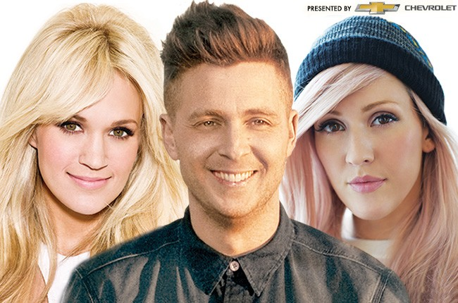 Milestone Award 2014 Finalists: Carrie Underwood, One Republic, Ellie Goulding
