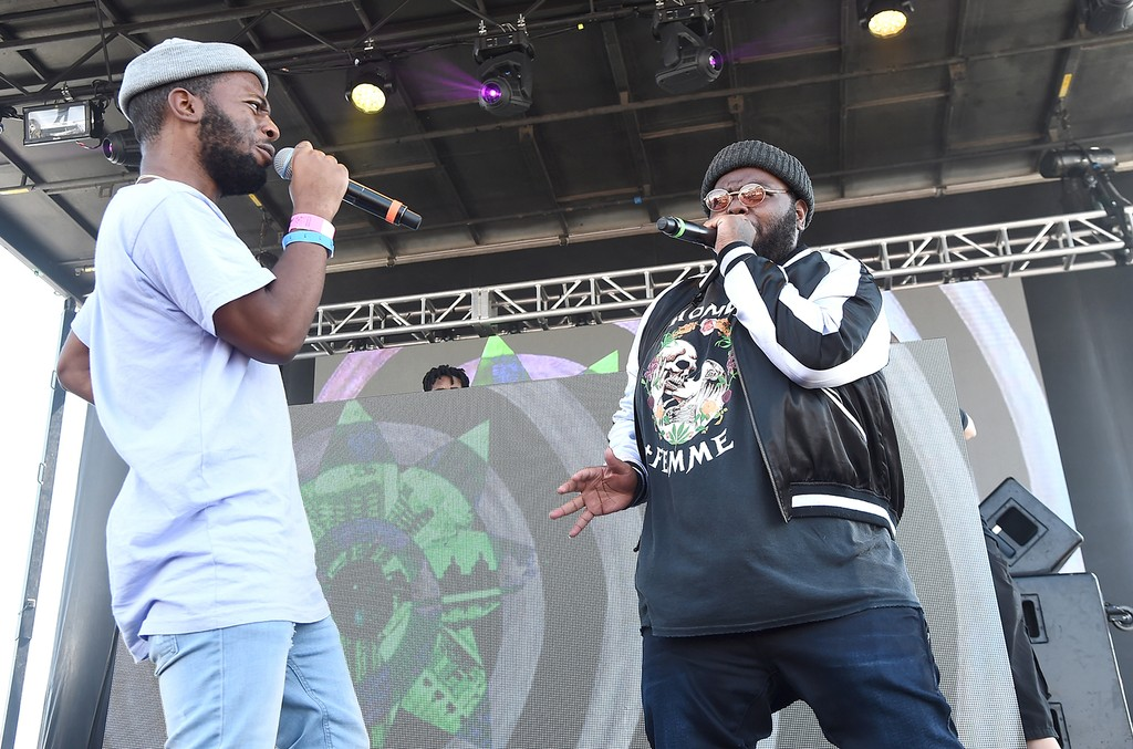 MadeinTYO performs onstage with Royce Rizzy during the 2016 Billboard Hot 100 Festival