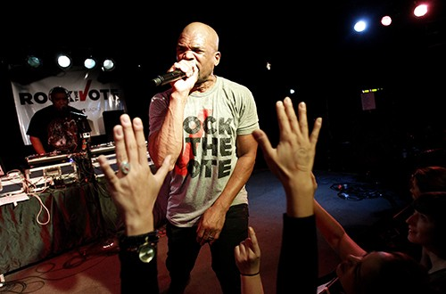 """Darryl """"DMC"""" McDaniels performs at Rock The Vote's #TBT 25th Anniversary Concert"""
