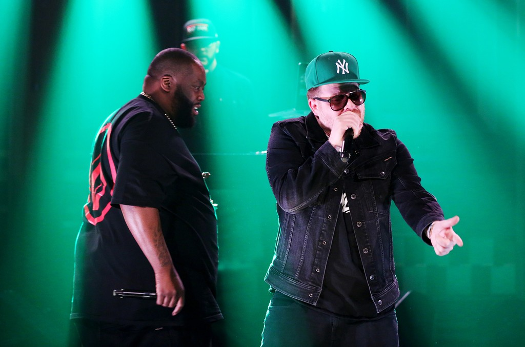 Killer Mike and El-P of Run the Jewels perform on 'The Tonight Show Starring Jimmy Fallon' on March 17, 2017.