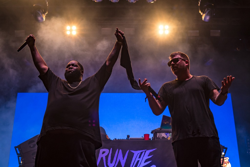 Run the Jewels perform at the Buku Music + Art Festival on March 11, 2017 in New Orleans.