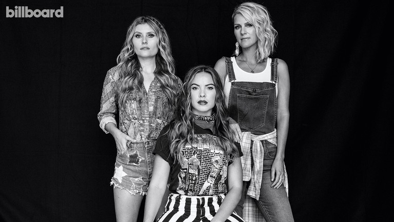 <p>From left: Hannah Mulholland, Naomi Cooke and Jennifer Wayne&nbsp&#x3B;of Runaway June photographed on July 14, 2019 at Westlight Studios in Nashville.</p>