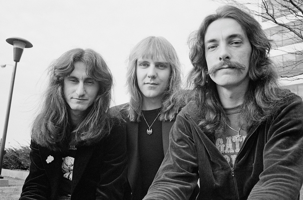 Geddy Lee, Alex Lifeson and Neil Peart of Rush