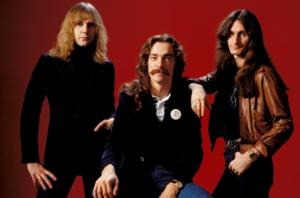 Alex Lifeson, Neil Peart and Geddy Lee of Rush