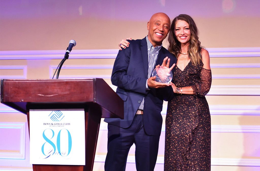 Russell Simmons and Rebecca Gayheart Dane