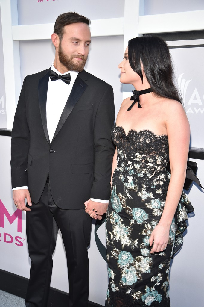 Ruston Kelly and Kacey Musgraves attend the 52nd Academy Of Country Music Awards at Toshiba Plaza on April 2, 2017 in Las Vegas.