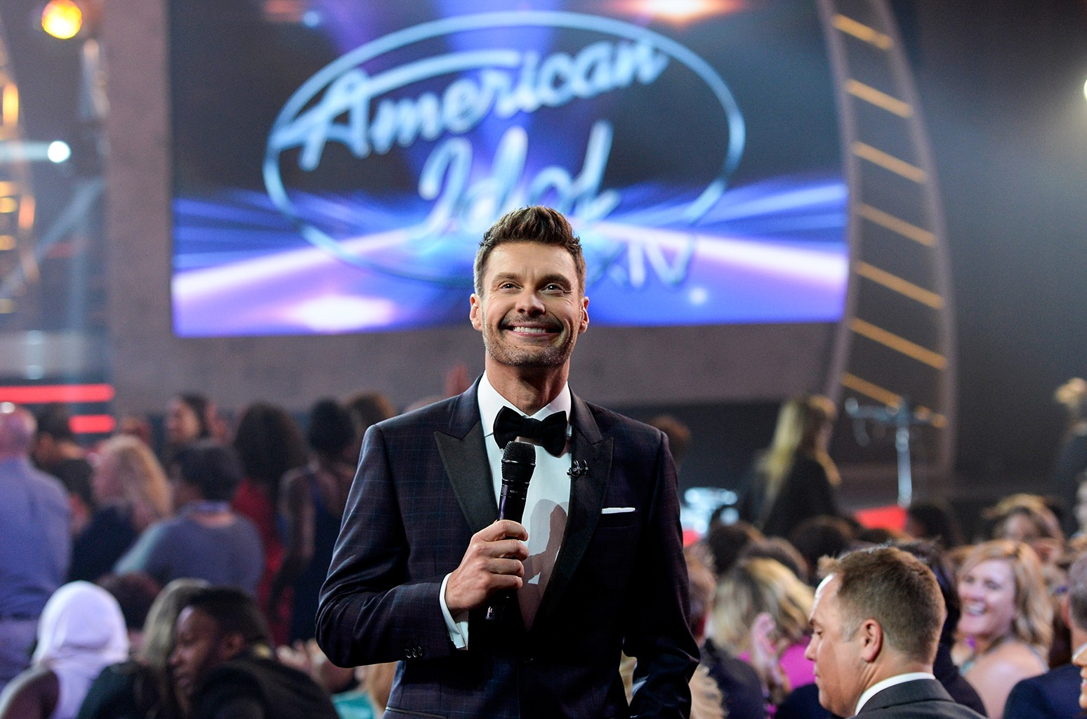 Host Ryan Seacrest speaks during American Idol XIV Grand Finale at Dolby Theatre on May 13, 2015 in Hollywood, Calif.