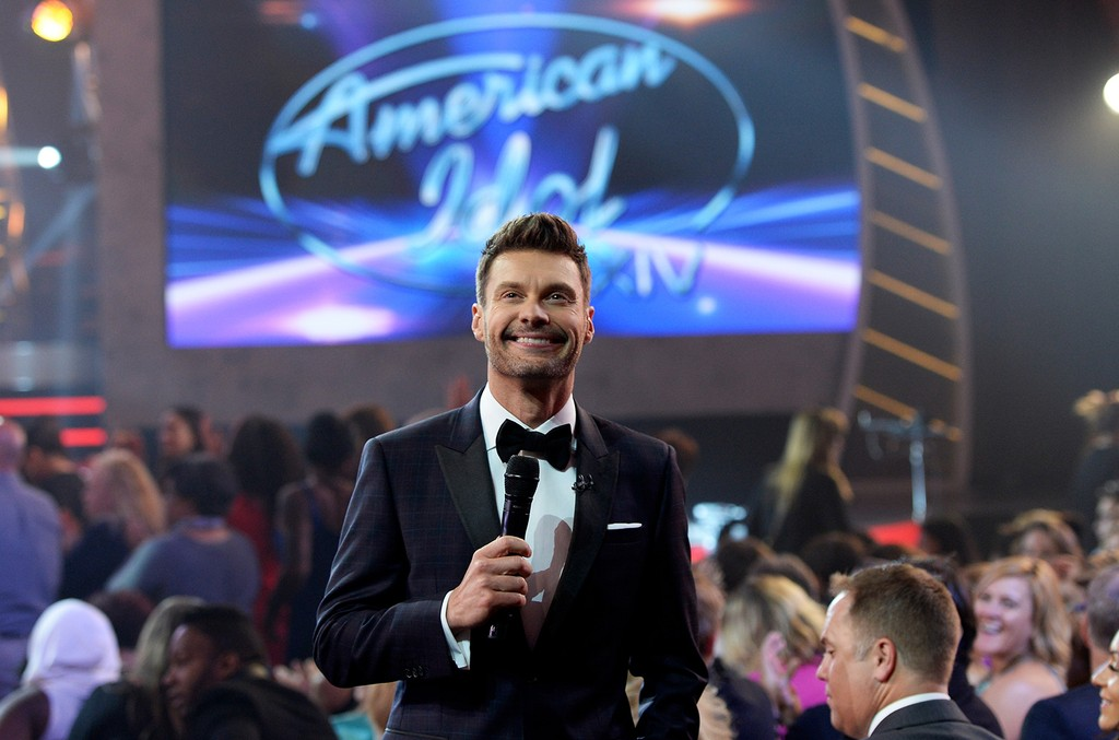 """Ryan Seacrest speaks during """"American Idol"""" XIV Grand Finale at Dolby Theatre on May 13, 2015 in Hollywood, Calif."""