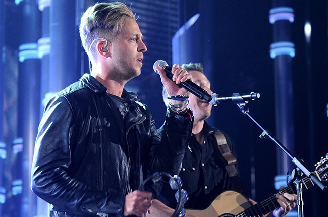 Ryan Tedder, Zach Filkins of OneRepublic
