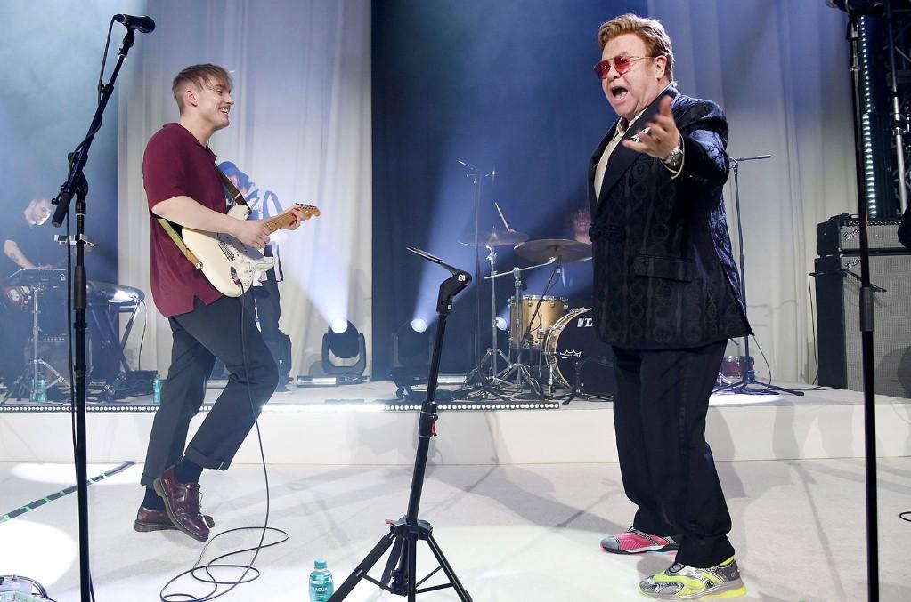 Sam Fender and Sir Elton John