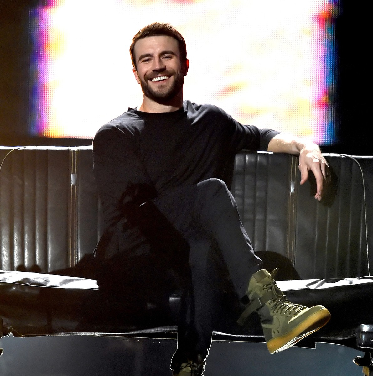 Sam Hunt performs onstage during the 52nd Academy Of Country Music Awards at T-Mobile Arena on April 2, 2017 in Las Vegas.