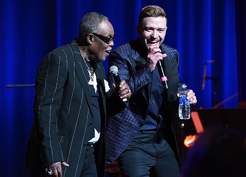 Sam Moore and Justin Timberlake perform at the Memphis Music Hall of Fame Induction Ceremony