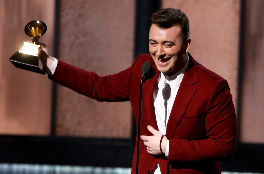 Sam Smith accepts an award onstage during The 57th Annual Grammy Awards at Staples Center on Feb. 8, 2015 in Los Angeles.