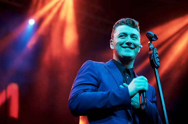 Sam Smith in concert with Keta at The Belasco Theater on April 16, 2014 in Los Angeles.