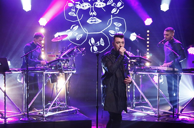 Sam Smith performs with musical guest Disclosure