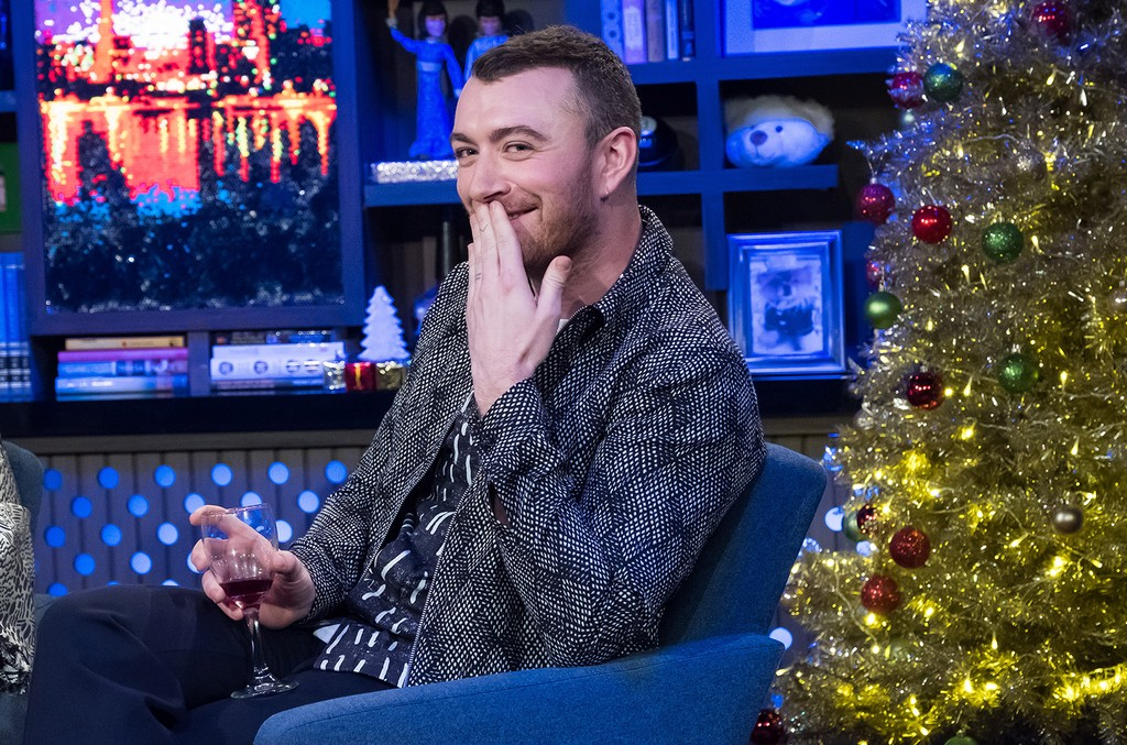 Sam Smith on Watch What Happens Live with Andy Cohen.