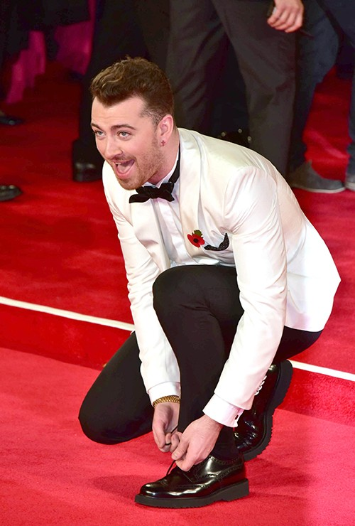 """Sam Smith attends the world pemiere of """"Spectre"""" at Royal Albert Hall"""