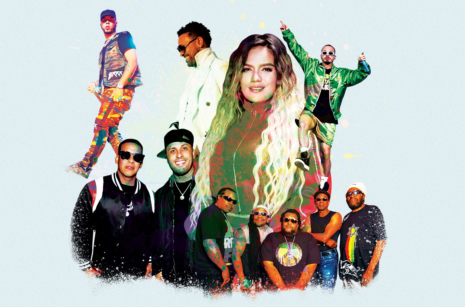 AnuelAA, Shaggy, KarolG, J Balvin, Inner Circle, Nicky Jam and Daddy Yankee